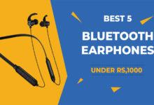 best bluetooth earphones under 1000 india